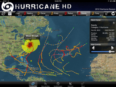 Hurricane Tracker | iPhone App | iPad App | Web Version
