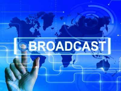Broadcast Map Displays International Broadcasting And Transmission by Stuart Miles (FreeDigitalPhotos.net)