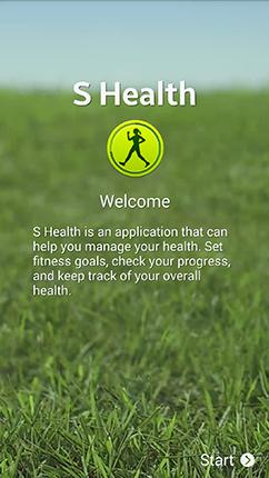 Samsung S Health app (Source Samsung)