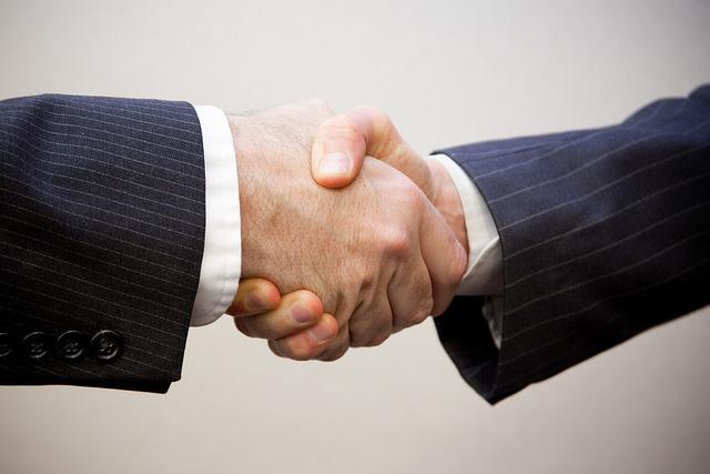 Handshake - 2 men by  Flazingo Photos (flickr)