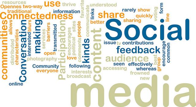 Social media wordcloud by Yoel Ben-Avraham (flickr)